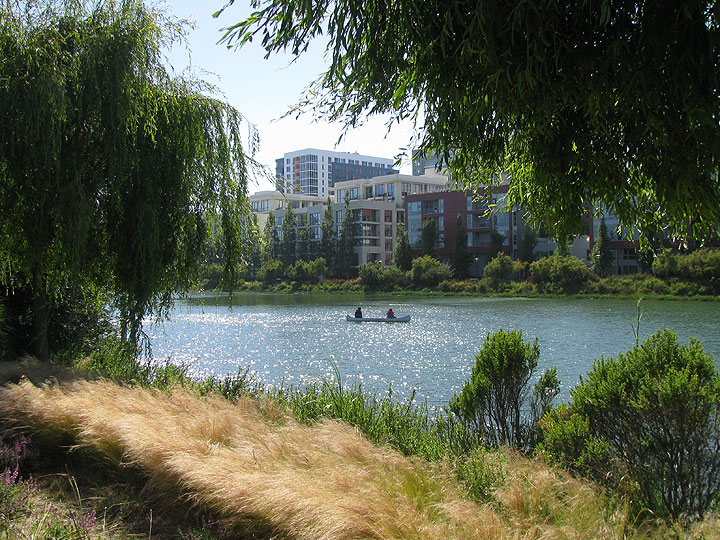 Canoe-on-Mission-Creek-w-trees-and-condos 8702.jpg