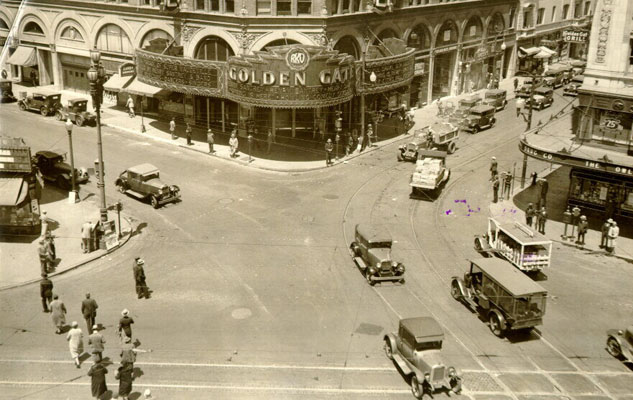 Intersection of Golden Gate Avenue, Talyor Street and Market Street May 23 1930 AAB-3835.jpg