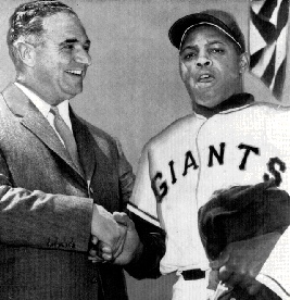 1958 photograph of legendary san francisco giant willie mays willie