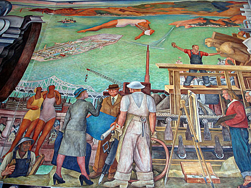 Pan american unity images for Diego rivera mural san francisco art institute