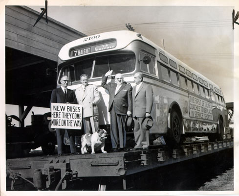 Elmer Robinson on new bus 1955 AAC-7769.jpg