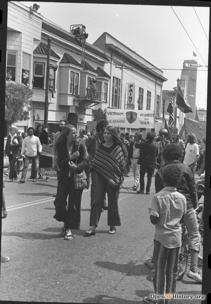 View east on Haight near Stanyan, Haight Theatre in background April 22 1972 wnp28.3239.jpg