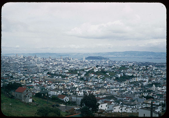 Image:Cushman-March-16,-1952-downtown-from-Portola-Pt-observation-P05856.jpg