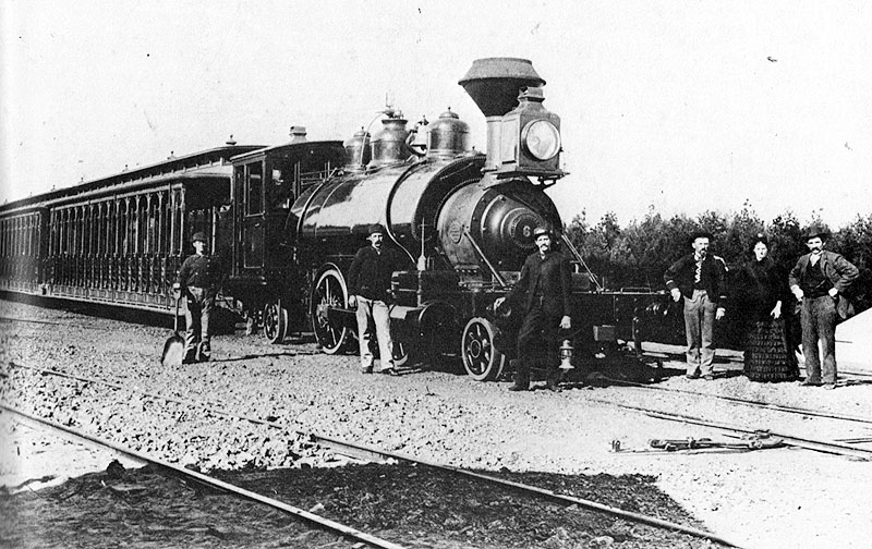 Park-and-Ocean-Railroad-steam-railroad,-near-roundhouse-at-Frederick,-now-Kezar c-1880s Charles-Smallwood-collection.jpg