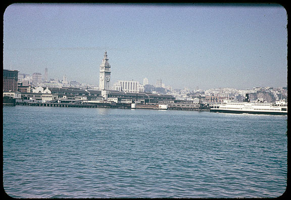 Image:Cushman-aug-31-1954-ferry-bldg-and-ferry-eureka-approaching-P07299.jpg