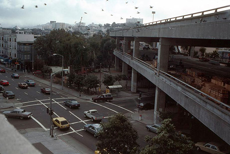1991-southwest-view-from-Gough-and-Grove-old-central-freeway SFHistorian-twtr.jpg