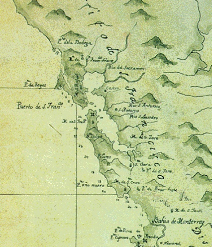 Map Of North Spain Coast.The Discovery Of San Francisco Bay 1542 1769 Foundsf