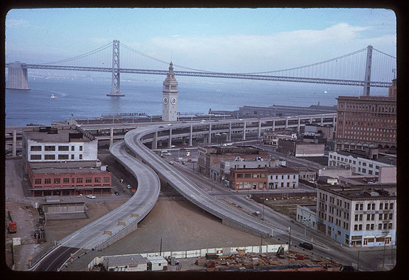 Image:Cushman-Aug-15-1965-fwy-offramps-and-ferry-bldg-brand-new-P14851.jpg