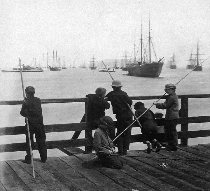 Image:7-boys-fishing-on-long-bridge-I0021773.jpg