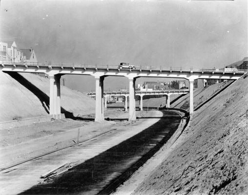 Bernal Cut, Richland Avenue, Miguel Street Bridge and Highland Avenue Bridge Oct 1929 AAA-9924.jpg
