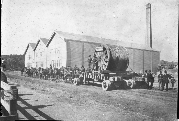 First cable delivered to McAllister Car Barn and Powerhouse July 1883 wnp32.0167.jpg