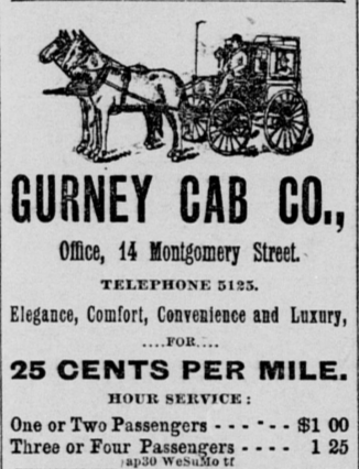 Gurney cab advert SFCall 1890-5-1.png