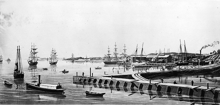 Image:1871-docks-at-Rincon-Pt-by-Joseph-Lee-CHS2010.286.jpg
