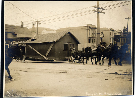 Quake shack moves 1906 apparently near Army st AAC-2846.jpg