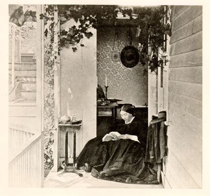 File:Mrs General Fremont on porch at Black Point 1863 AAC-6063.jpg