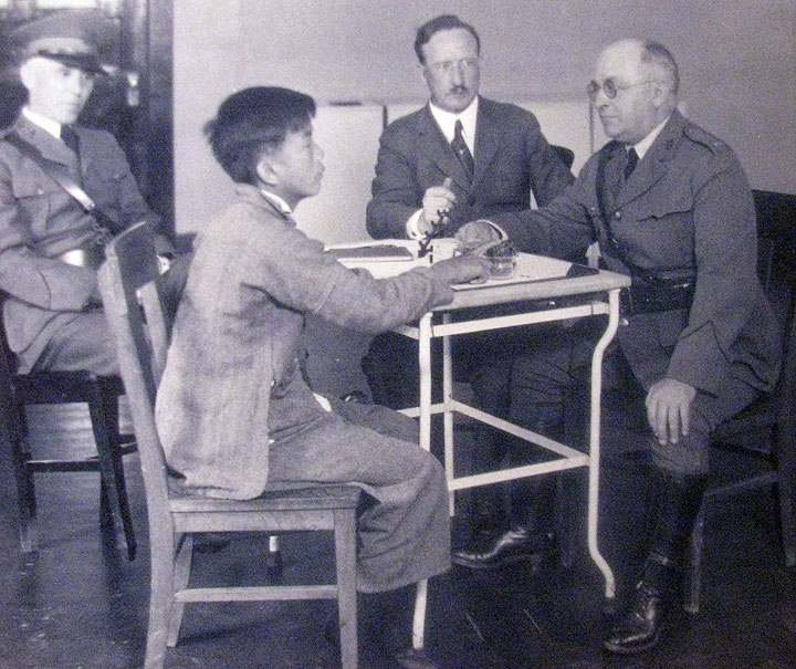 an examination of the interrogations of chinese immigrants at angel island This immigration station was less friendly than ellis island  as many as 97% of  all the immigrants that showed up at angel island were of chinese descent   after the examinations, the immigrants were assigned a detention   interrogations lasted awhile because many of the immigrants held at the.