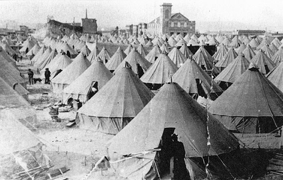 Great San Francisco Earthquake camp