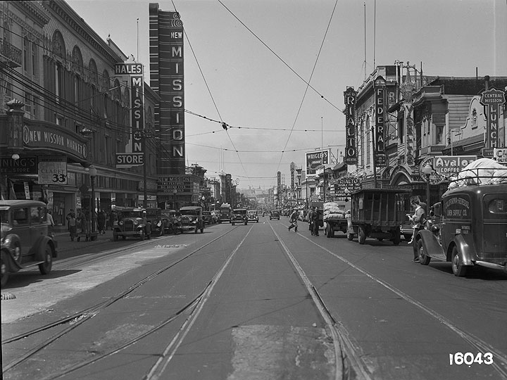 Streetcar-Track-Reconstruction-on-Mission-Between-21st-and-22nd-Streets-View-of-Finished-Track-Work July-27-1936 U16043.jpg