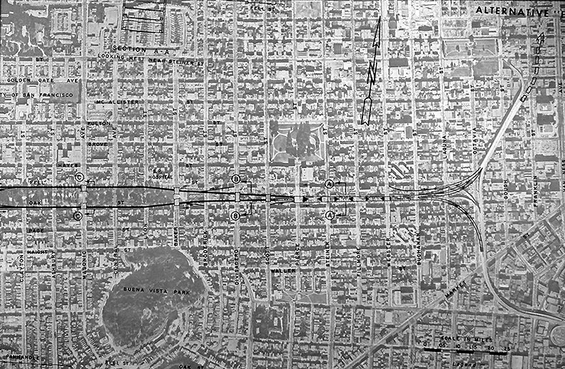 Gg-park-panhandle-freeway-plan-on-aerial-photo drescher.jpg