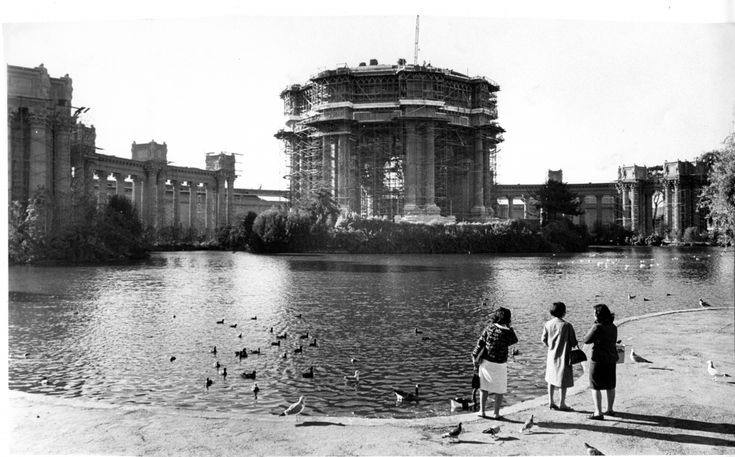 Palace of Fine Arts under construction Nov 4 1966 Joe Rosenthal SFC.jpg