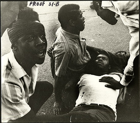 Residents in the 1966 Bayview-Hunters Point riots AAK-1653.jpg