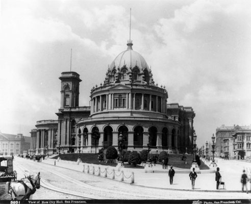 Image:Hall of Records and City Hall, looking west from City Hall Avenue at McAllister Street, 1877-1897 AAA-4765.jpg