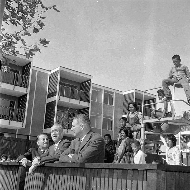 Justin-Herman-Harry-Bridges-and-George-Christopher-at-new-apartments-for-the-ILWU-in-Western-Addition-August-6-1963.jpg