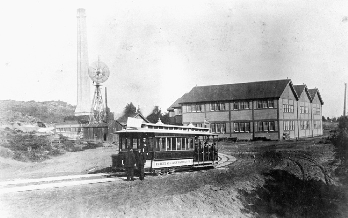 Looking east at McAllister Car Barn and Powerhouse, circa 1890 wnp37.01668.jpg