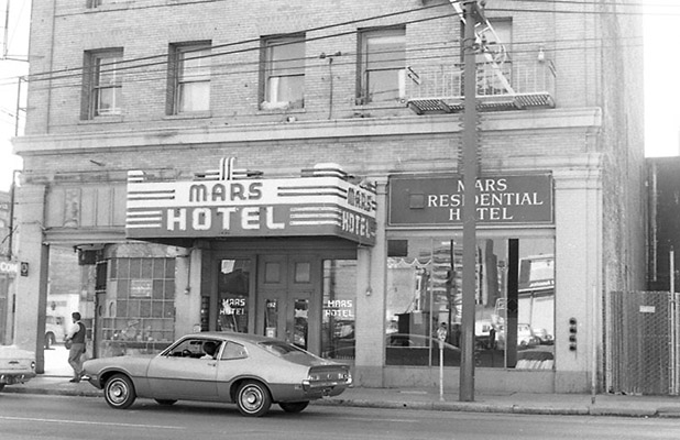 Mars Hotel, 193 4th Street, prior to demolition as part of South of Market Redevelopment Oct 1970 TOR-0050.jpg