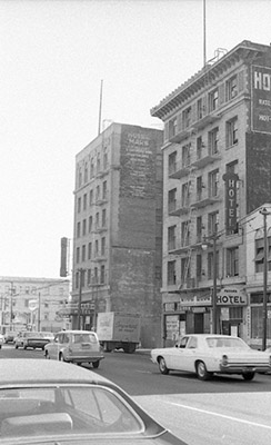 Panama Hotel, 176 4th Street, and Mars Hotel, 193 4th Street, before demolition as part of South of Market Redevelopment TOR-0049.jpg