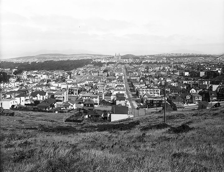 View-From-Tank-Hill-Park-near-Belgrave-Avenue-Towards-Panhandle-of-Golden-Gate-Park-and-Saint-Ignatius-Church-Image-Number-34 -Circa-1920-D6785 1.jpg