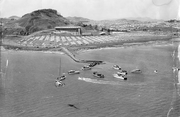 Image:Candlestick Parks opening day and opening day of season 1960 AAC-5288.jpg