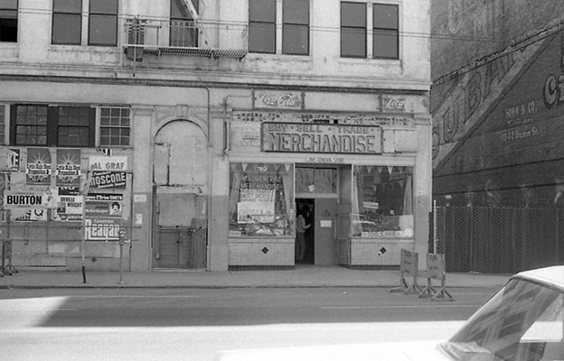 Jim's General Merchandise, 789 Howard, before destruction as part of South of Market Redevelopment Oct 1970 TOR-0045.jpg