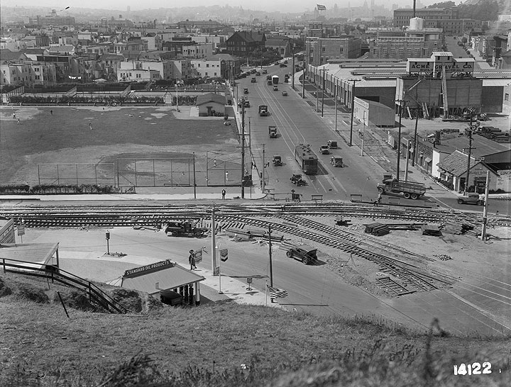 View-of-Mission-District-and-James-Rolph-Junior-Playground-and-Baseball-Diamond-from-Peralta-Avenue-Looking-North- July-17-1933 U14122.jpg