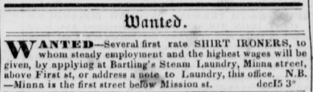 Daily Alta California December 15, 1850, Vol. 2, No. 6 Minna Street.jpg