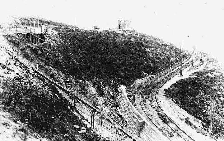 Px El Camino Del Mark At Far Left West Towards Lands End Tracks Abandoned After Feb Landslide Sfdpw June