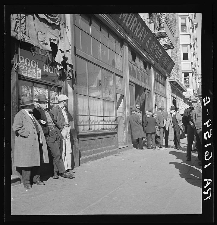 Skid Row. Howard Street. San Francisco, California Feb 1937 8b31687v.jpg