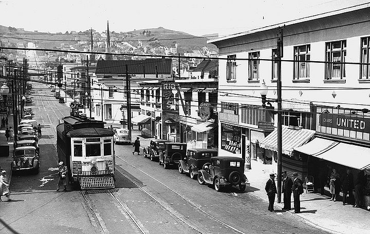 noe valley transit in early 20th century
