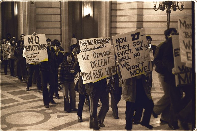 Housing protesters at San Francisco CITY HALL, 1977 Nancy Wong.jpg