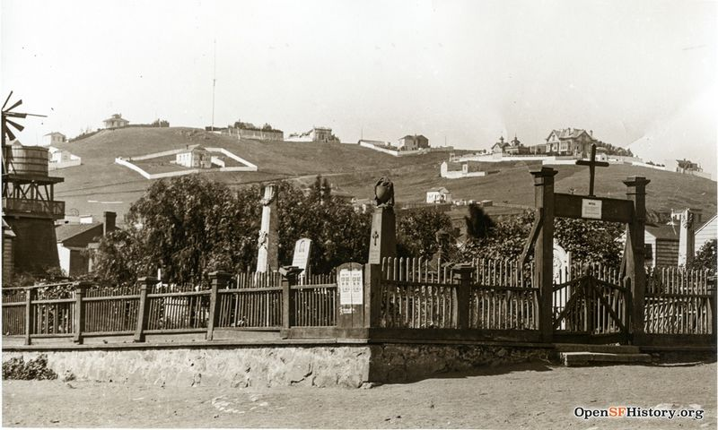 Mission Dolores Cemetery c 1880 w view of Liberty Hill wnp4.1779a.jpg