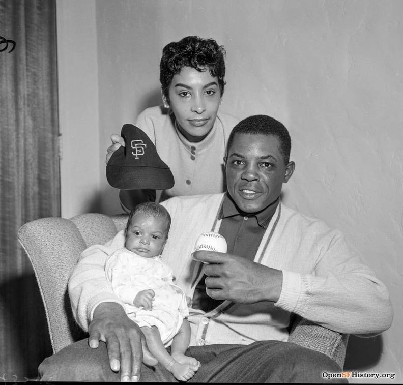 Willie Mays w wife and child c 1959.jpg