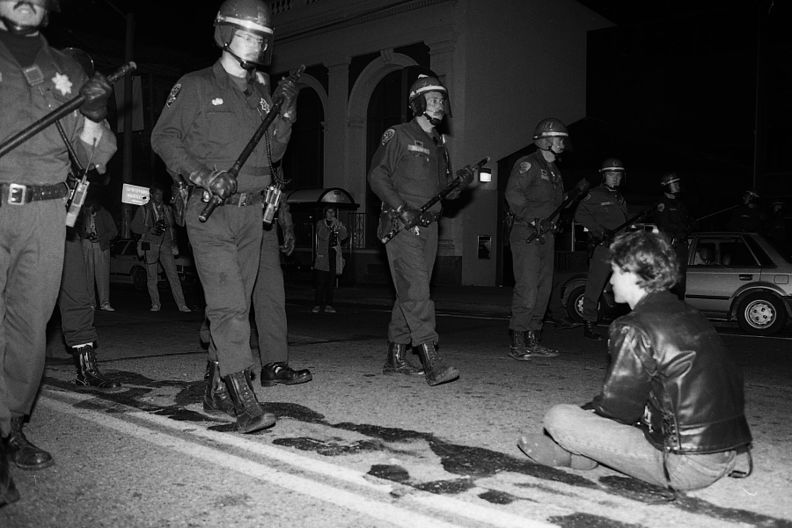 Castro sweep lone man on street 10-6-89.jpg