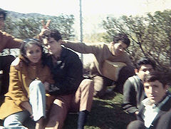 Neftali with friends at Dolores Park, 1969