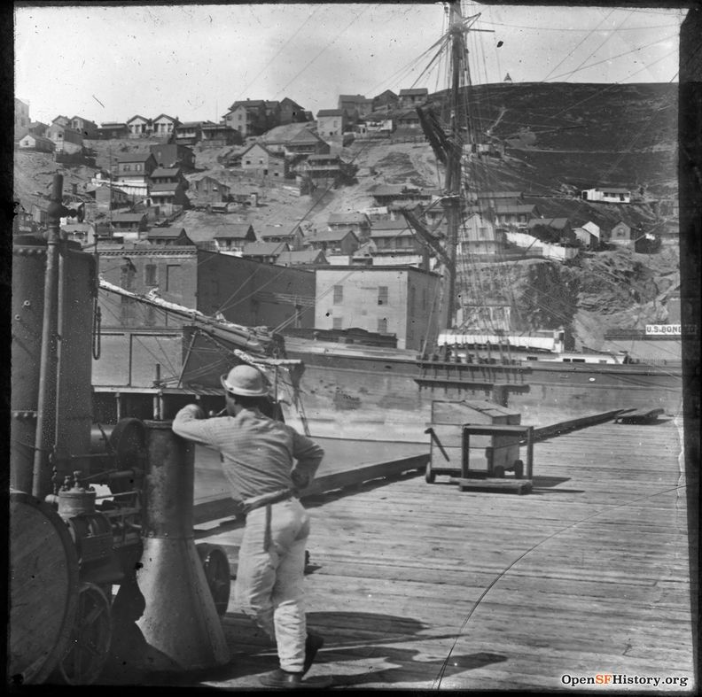 C1875 Telegraph Hill, from waterfront pier near present Embarcadero wnp13.114.jpg