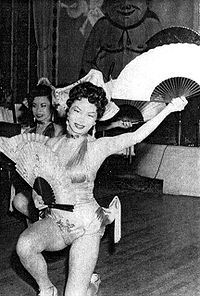 Pat Chin at Skyroom, 1950s