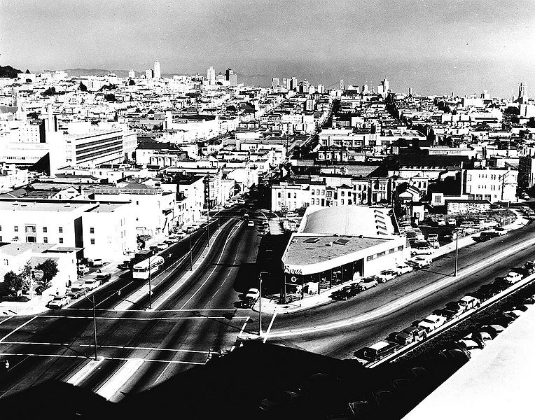 File:Geary-east-from-Baker-and-St-Josephs-Nov-7-1958-SFPL.jpg