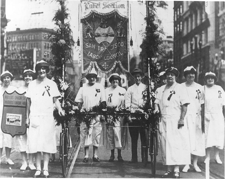 Waitresses union 1925 labor day parade PC4.jpg