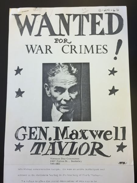 File:General Maxwell Taylor War Criminal Poster.JPG
