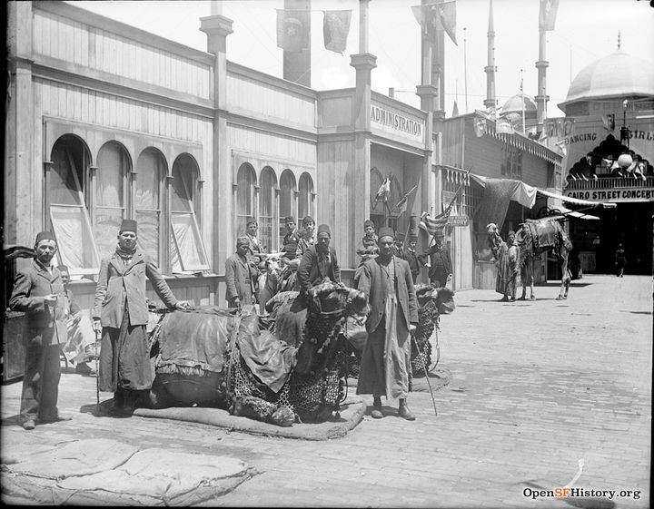 Cairo Street camels and drivers wnp15.141.jpg