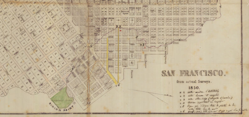 1850 map with Rincon Point and original YB shoreline.jpg
